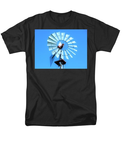 Men's T-Shirt  (Regular Fit) featuring the photograph Windmill - Bright Sunny Day by Ray Shrewsberry