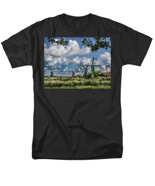Windmills Of Holland Men's T-Shirt  (Regular Fit) by Shirley Mangini