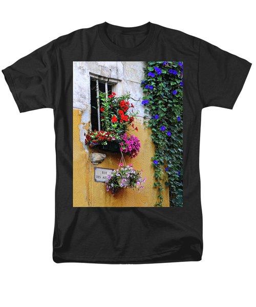 Window Garden In Arles France Men's T-Shirt  (Regular Fit) by Dave Mills