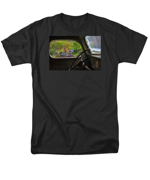 Window In Time Men's T-Shirt  (Regular Fit) by Alana Thrower
