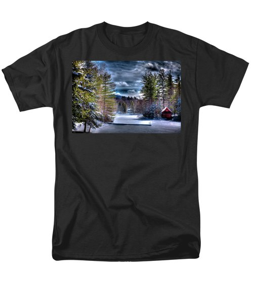 Men's T-Shirt  (Regular Fit) featuring the photograph Winter At The Boathouse by David Patterson