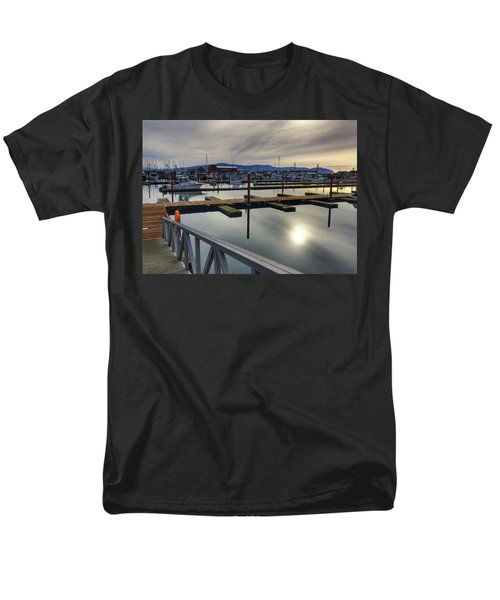 Men's T-Shirt  (Regular Fit) featuring the photograph Winter Harbor by Chriss Pagani