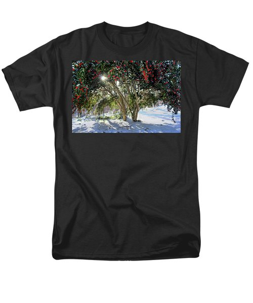 Men's T-Shirt  (Regular Fit) featuring the photograph Winter Holly by Jessica Brawley