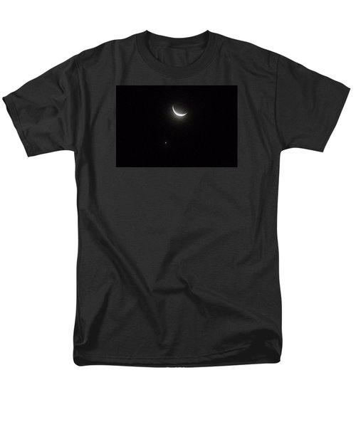 Men's T-Shirt  (Regular Fit) featuring the photograph Winter Moon Venus Star by Deborah Moen