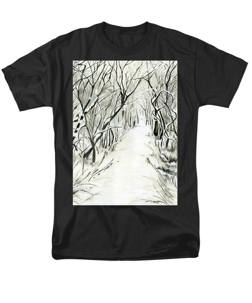 Men's T-Shirt  (Regular Fit) featuring the painting Winter Scene by Nadine Dennis