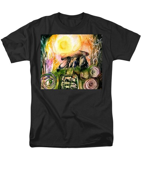 Men's T-Shirt  (Regular Fit) featuring the painting Winter Solstice , Ancient Stones Of Ireland   by Trudi Doyle