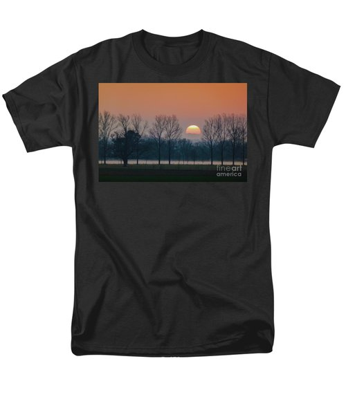 Winter Sunset 1 Men's T-Shirt  (Regular Fit) by Jean Bernard Roussilhe