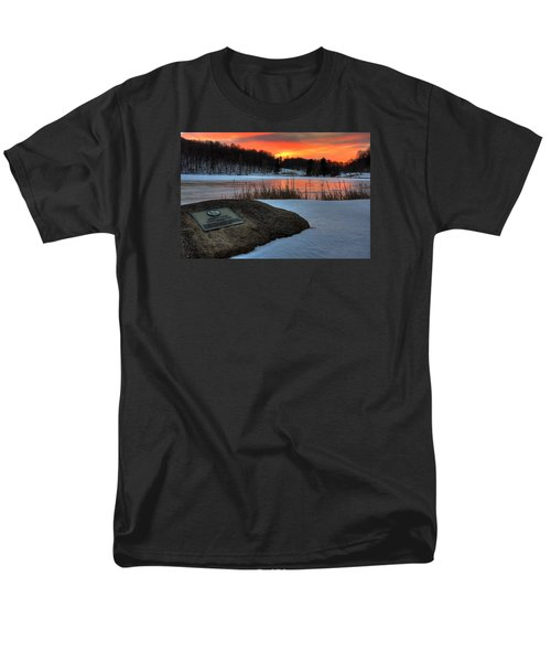 Winter Sunset Abbott Lake Men's T-Shirt  (Regular Fit) by Steve Hurt