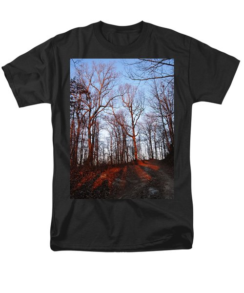 Winter Sunset In Georgia Mountains Men's T-Shirt  (Regular Fit) by Angela Murray