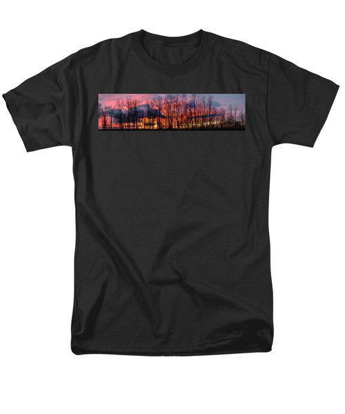 Men's T-Shirt  (Regular Fit) featuring the photograph Winter Sunset Panorama by Francesa Miller