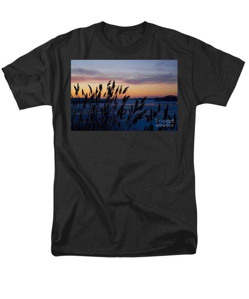 Winter Sunset  Men's T-Shirt  (Regular Fit) by Paula Guttilla
