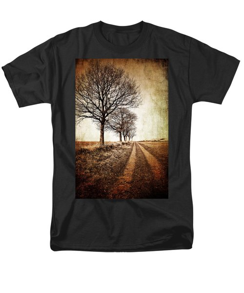 Winter Track With Trees Men's T-Shirt  (Regular Fit) by Meirion Matthias