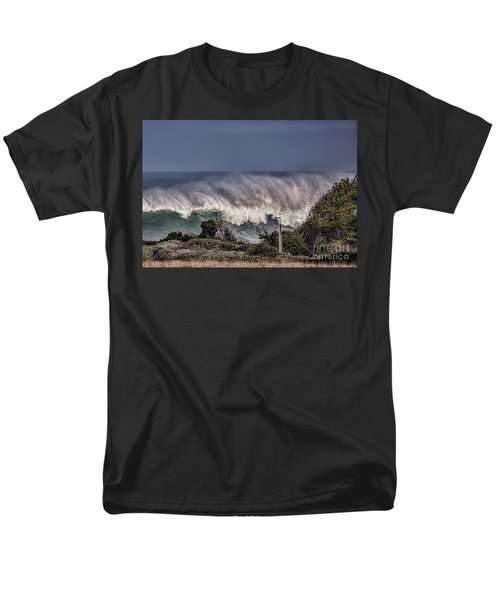 Winter Waves Men's T-Shirt  (Regular Fit) by Shirley Mangini