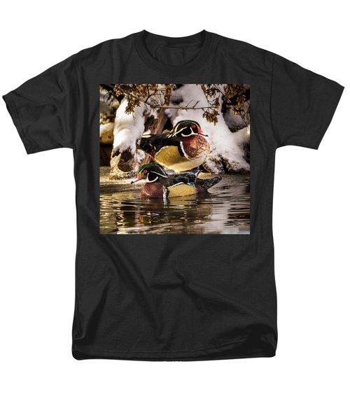 Wintering Wood Ducks Men's T-Shirt  (Regular Fit)