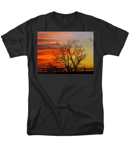 Men's T-Shirt  (Regular Fit) featuring the photograph Winter's Scene by Donald C Morgan
