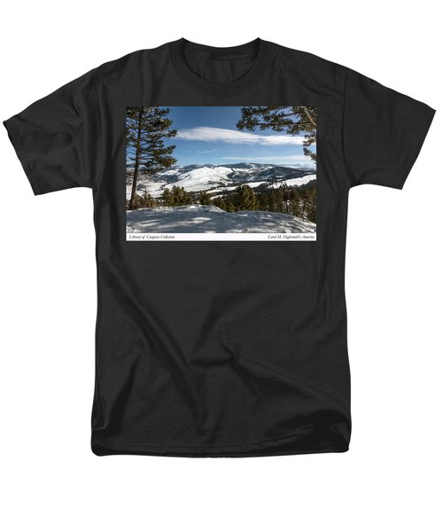 Wintertime View From Hellroaring Overlook In Yellowstone National Park Men's T-Shirt  (Regular Fit) by Carol M Highsmith