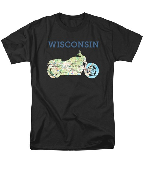 Wisconsin Men's T-Shirt  (Regular Fit) by Art Spectrum