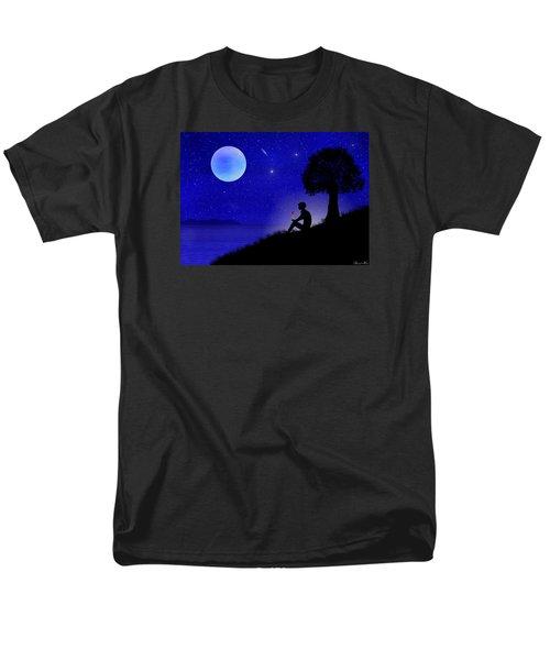 Men's T-Shirt  (Regular Fit) featuring the digital art Wish You Were Here by Bernd Hau