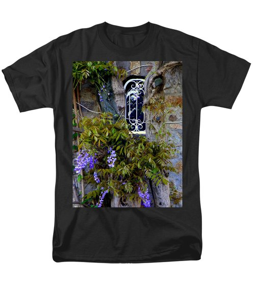 Wisteria Window Men's T-Shirt  (Regular Fit) by Lainie Wrightson