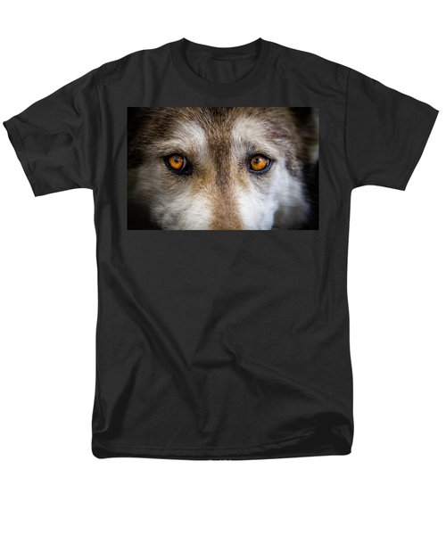 Men's T-Shirt  (Regular Fit) featuring the photograph Wolf Eyes by Teri Virbickis