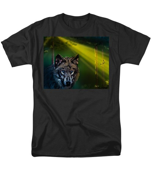 Wolf Of The Dark Wood Men's T-Shirt  (Regular Fit) by J Griff Griffin