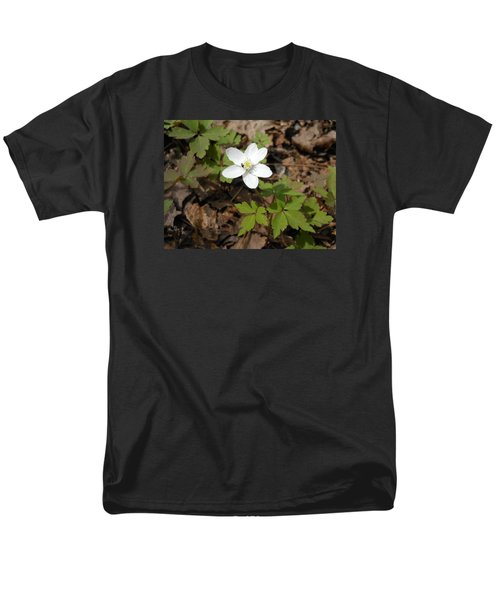 Men's T-Shirt  (Regular Fit) featuring the photograph Wood Anemone by Linda Geiger