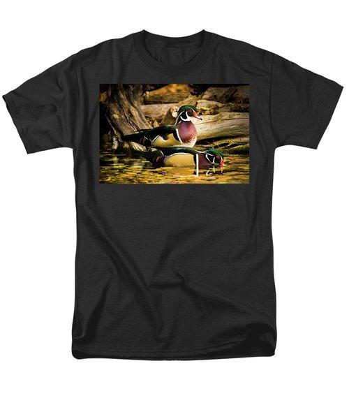 Wood Ducks In Autumn Waters Men's T-Shirt  (Regular Fit)