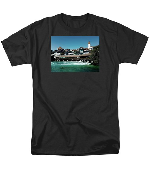 Men's T-Shirt  (Regular Fit) featuring the photograph Wooden Bridge by Mimulux patricia no No