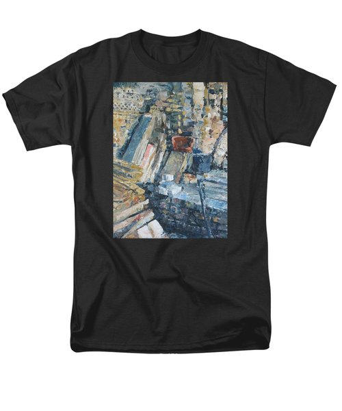 Working To Abstraction Men's T-Shirt  (Regular Fit) by Connie Schaertl