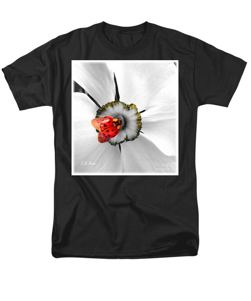 Wow Ladybug Is Hot Today Men's T-Shirt  (Regular Fit) by Kimberlee Baxter