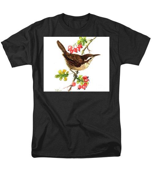 Wren And Rosehips Men's T-Shirt  (Regular Fit)