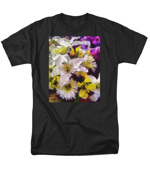 Xtreme Floral Six The White Star Men's T-Shirt  (Regular Fit) by Spyder Webb