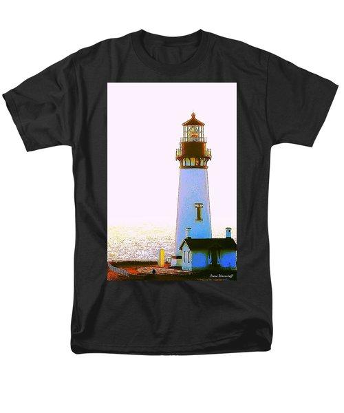 Yaquina Head Lighthouse Men's T-Shirt  (Regular Fit) by Steve Warnstaff