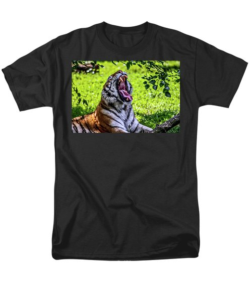 Men's T-Shirt  (Regular Fit) featuring the photograph Yawning Tiger by Joann Copeland-Paul