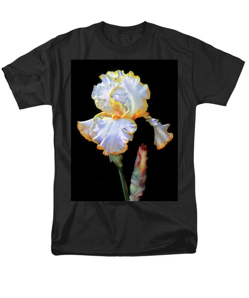 Yellow And White Iris Men's T-Shirt  (Regular Fit) by Dave Mills