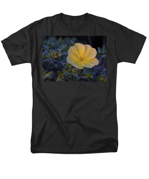 Men's T-Shirt  (Regular Fit) featuring the photograph Yellow Beach Evening Primrose by Marie Hicks