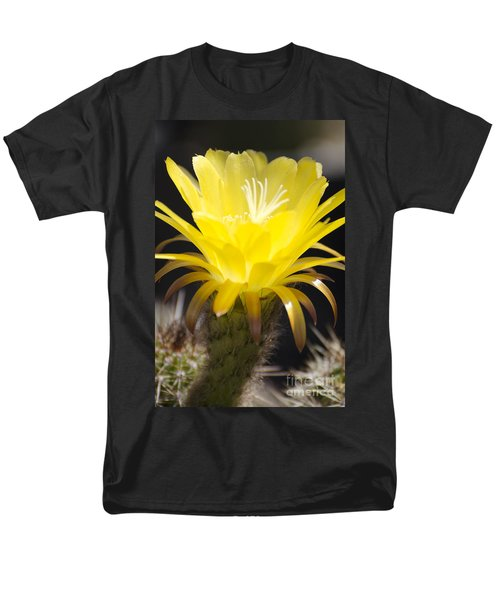 Yellow Cactus Flower Men's T-Shirt  (Regular Fit) by Jim And Emily Bush