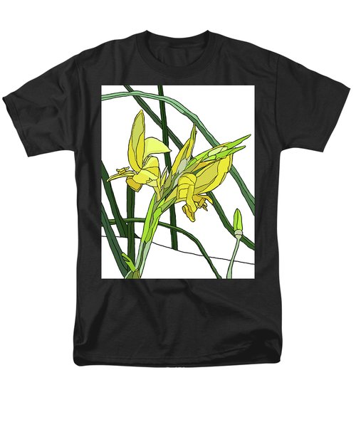 Yellow Canna Lilies Men's T-Shirt  (Regular Fit) by Jamie Downs