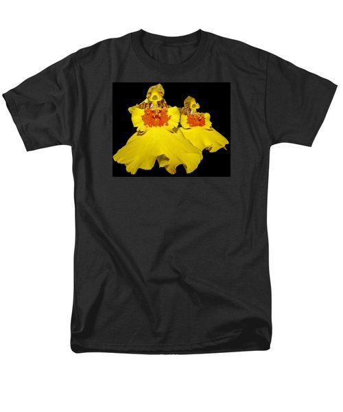 Men's T-Shirt  (Regular Fit) featuring the photograph Yellow Dresses by Judy Vincent