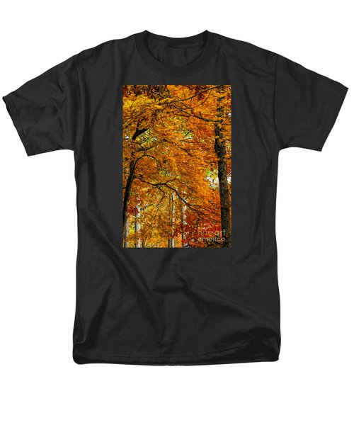 Men's T-Shirt  (Regular Fit) featuring the photograph Yellow Leaves by Barbara Bowen