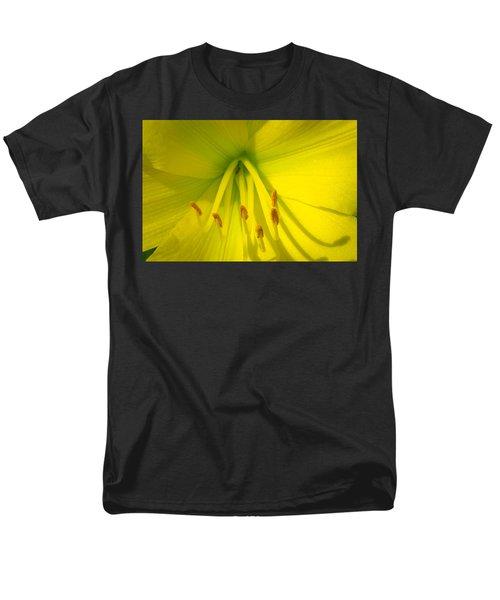 Yellow Lily Macro Men's T-Shirt  (Regular Fit) by Bruce Pritchett