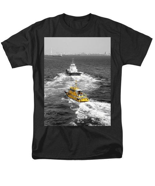 Yellow Pilot Yokohama Port Men's T-Shirt  (Regular Fit) by Susan Lafleur