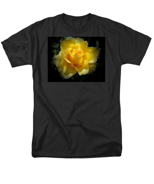 Yellow Rose Men's T-Shirt  (Regular Fit) by Veronica Rickard