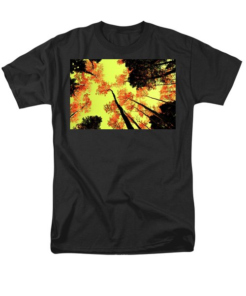 Yellow Sky, Burning Leaves Men's T-Shirt  (Regular Fit) by Kevin Munro