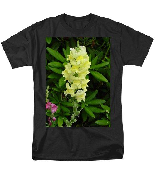 Yellow Snapdragon Men's T-Shirt  (Regular Fit) by Shirley Heyn