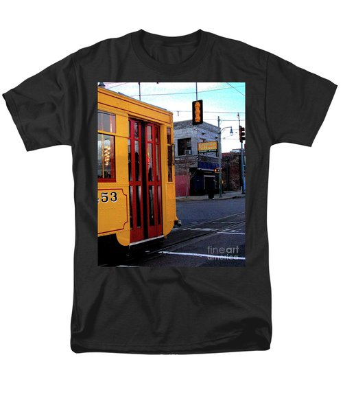 Yellow Trolley At Earnestine And Hazels Men's T-Shirt  (Regular Fit) by Lizi Beard-Ward