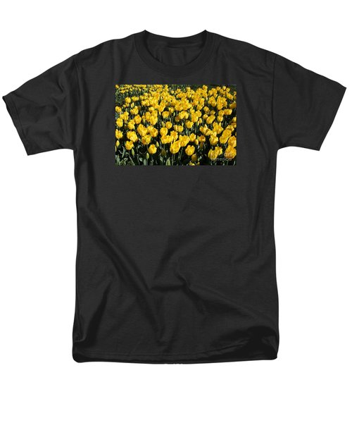 Yellow Tulips Men's T-Shirt  (Regular Fit) by Bev Conover
