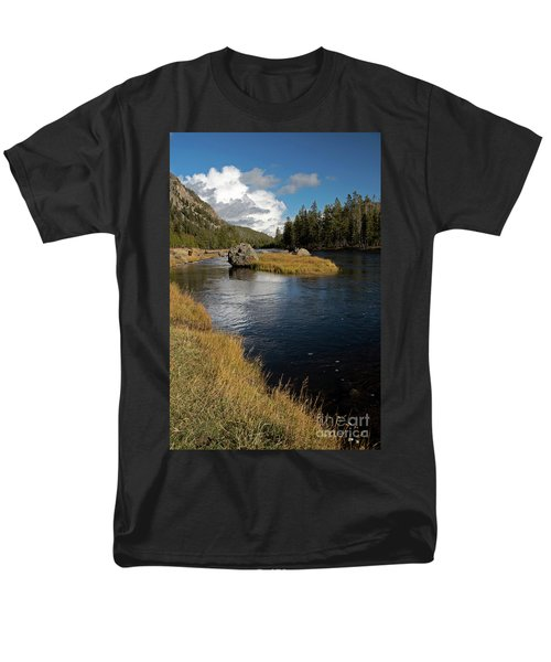 Yellowstone Nat'l Park Madison River Men's T-Shirt  (Regular Fit) by Cindy Murphy - NightVisions