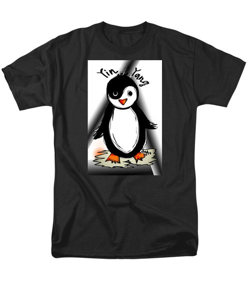 Yin Yang Penguin  Men's T-Shirt  (Regular Fit)
