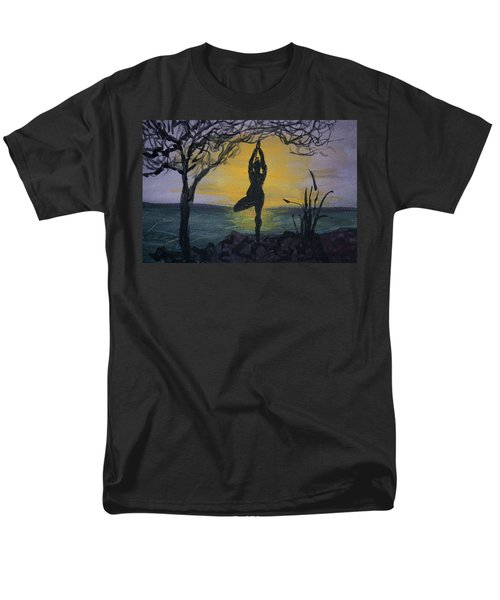 Yoga Tree Pose Men's T-Shirt  (Regular Fit) by Donna Walsh